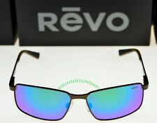 Green Water Revo Mens Polarized Sunglasses Zinger Modified Wayfarer Frame 53 mm Matte Tortoise Frame