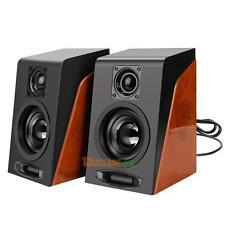 Retro Metal USB Subwoofer Heavy Bass Restoring Stereo Desktop Mini Speaker Gift