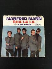 "Manfred Mann Sha La La John Hardy Picture Sleeve 45 7"" British Invasion Rock"