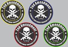2nd Amendment Decal Bumper Sticker Truck Car Gun Rifle Bear Arms