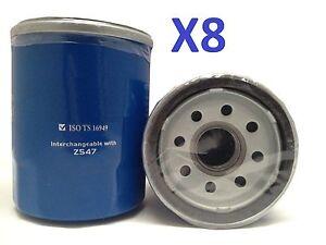 8x Oil Filter Suits Z547 Honda Accord Civic CRV Jazz Odyssey, Nissan, Infiniti