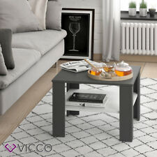 VICCO Couchtisch HOMER Anthrazit Wei�Ÿ 60x60 cm  Wohnzimmer Sofatisch Kaffeetisch
