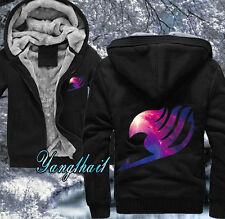 Anime Fairy Tail Natsu Winter Thicken Hoodie Sweatshirt Jacket Unisex Coat #SC43