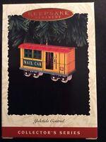 HALLMARK ORNAMENT 1996 YULETIDE CENTRAL 3rd. EDITION-MAIL CAR-DATED NIB