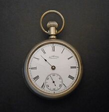Waltham 18 size 7 jewels Open Face Fahys Oresilver Pocket Watch 1883