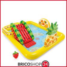 Piscina con Scivolo Parco Giochi per Bambini Intex Gonfiabile Frutta con Palline