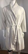 Calvin Klein 100% Cotton Ribbed Men's Robe, Size S/M
