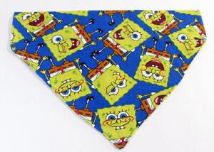 Spongebob Dog Bandana, Over the Collar dog bandana, Dog collar bandana, puppy