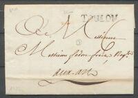 1772 Lettre Marque Lenain N°10 TOULON 32mm VAR(78) TB. X2899