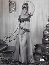 Barbara Eden Hand Signed Oversized 11x14 Photo Sexy Jeannie Pose Jsa