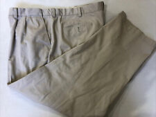 L.L Bean Men's Big and Tall Light Beige Cotton Casual Pants 45X30 $89