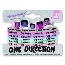 I Love Heart 1D One Direction Gummy Band Set Multi Pastel Bracelets Fan Official