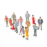 20 lot 1:25 Scale Painted Miniature Model People for Diorama Scenery Accessory