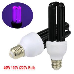 E26/E27 40W Ultraviolet Fluorescent Blacklight CFL Light Bulb Lamp 110V 220V