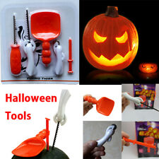 HALLOWEEN PARTY KIDS PUMPKIN MASTERS CARVING KIT PATTERNS & TOOLS 5 NEW KITS