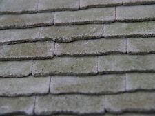 25 SQ INS 1:12 TH nuova autentica pietra Weathered miniatura solette del tetto