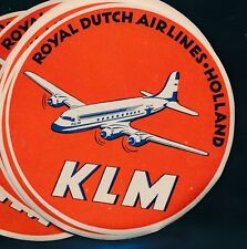 06762) Luftpost Vignette Air Mail label, KLM Royal Dutch Airlines..