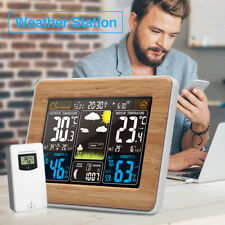 Wireless Weather Station Temperature Clock Daily Alarm Thermometer Large Display