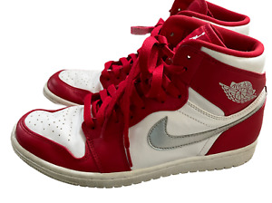 Air Jordan 1 Retro High Silver Medal 2016 Size 8 Red White #332550-602