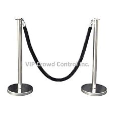 Rope Stanchion, 2 Flat Posts, Mirror S.S. & 1 Rope