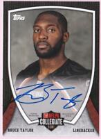 BRUCE TAYLOR RC 2013 TOPPS NFLPA COLLEGIATE BOWL AUTO SIGNED AUTOGRAPH