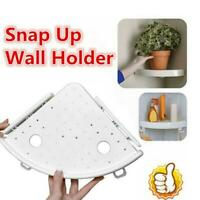 Bathroom White Triangular Shower Shelf Corner Bath Storage Holder Organizer Rack