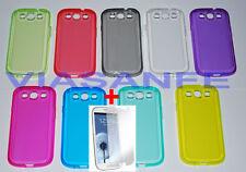 Cover Custodia Case Per Samsung Galaxy S3 i9300 Trasparente Silicone + Pellicola