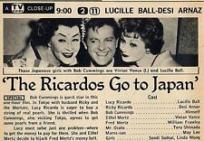 1959 TV AD'S~LUCY-DESI COMEDY HOUR~LUCILLE BALL GOES TO JAPAN~VIVIAN VANCE
