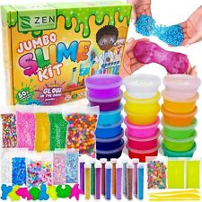 Zen Laboratory Diy Slime Kit Toy for Kids Girls Boys Ages 3-12, Glow in The Dark