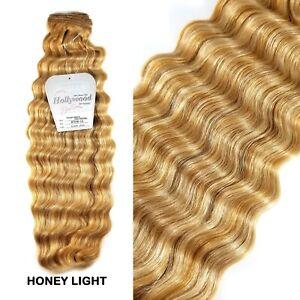 "Hollywood 100% Human Hair 18"" Italian French Deep Weavings - Honey Light"