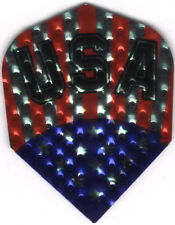 Stars and Bars USA Flag Dimplex Dart Flights: 3 per set