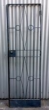 VINTAGE INDUSTRIAL RETRO IRON METAL SECURITY ART DECO FACTORY DOOR GRILL MELB