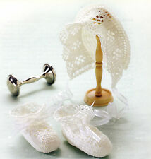 LOVELY Heirloom Lace Bonnet & Booties/Baby/Crochet Pattern INSTRUCTIONS ONLY