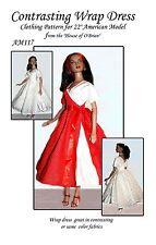 AM117 Wrap Dress pattern for American Model, Tonner
