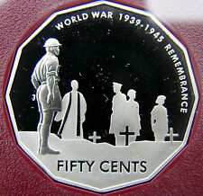 "2005 50 cent commemorative proof coin. ""REMEMBRANCE"" Only 33,520 made! Scarce!!!"
