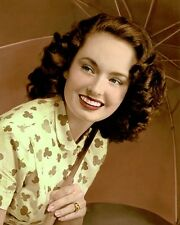 """ANN BLYTH (2) ACTRESS SINGER & MOVIE STAR 8x10"""" HAND COLOR TINTED PHOTOGRAPH"""