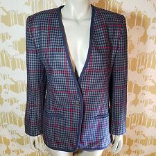 Vintage Country Suburbans Women's Plaid Wool Sport Blazer Size 10 USA Union Made