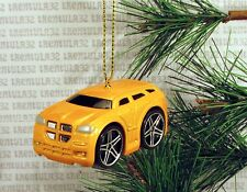 DODGE MAGNUM R/T HEMI YELLOW SUV TRUCK CHRISTMAS ORNAMENT XMAS