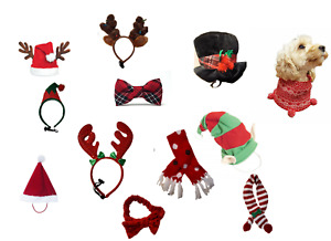 Rosewood Christmas Dog Dress Up Scrunchy Snood Scarf Bow Tie Neckerchief Antlers