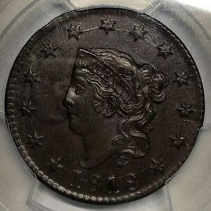 1818 N-10 Coronet Or Matron Head Large Cent PCGS Secure MS62BN Randall Hoard