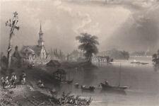 QUEBEC Les Cèdres. 'Village of Cedars, St Lawrence River'. Canada. BARTLETT 1842