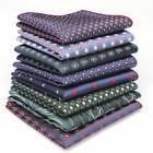 Lot 18 PCS Men's Handkerchief Pocket Square Paisley Suit Hankies Wedding Party