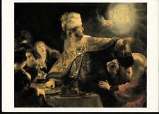 """Artist Rembrandt """"Belshazzar's Feast"""" Art Postcard"""
