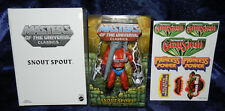 SNOUT SPOUT 1ST ISSUE + BONUS STICKERS MASTERS OF THE UNIVERSE CLASSICS MOTUC