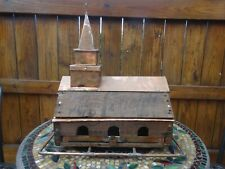 BIRD FEEDER - Church - Fed by the Word - Copper and Old Crate