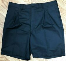 """Red Kap Black Pleated Front Shorts Size 42"""" x 9"""" New with Tags"""