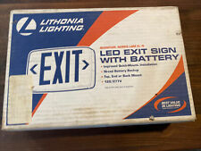*NEW* Lithonia Lighting Quantum Series LED Exit Sign w/ Battery