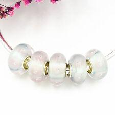 5pcs MURANO Lampwork charm Beads fit 925 silver European Bracelet Chain a144