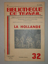 BT 32 - La Hollande Zuyderzée Polder Empire colonial Pêche Navigation 1939
