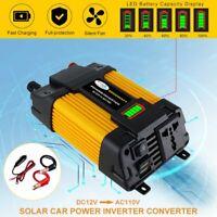 Car Power Inverter 6000W Peak DC 12V To AC 110V Sine Wave USB Converter Charger
